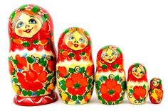 Russische Puppen Russische Matroschka Familie