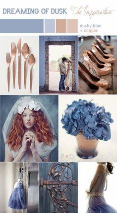 {Monday Moods at DIY Weddings} Dusky Blue + Copper · DIY Weddings | CraftGossip.com