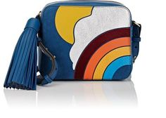 ANYA HINDMARCH Appliquéd Crossbody Bag. #anyahindmarch #bags #shoulder bags #velvet #crossbody #suede #
