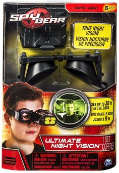 Spy Gear Ultimate Night Vision Glasses by Toysmith The Ultimate Night Vision monocular glasses are designed to be hands-free. with the monocle capable of being flipped up when not in use. An authentic
