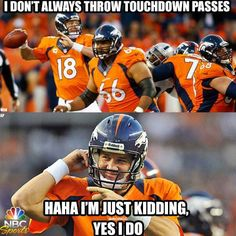 Peyton Manning....I think this is worth a repin.