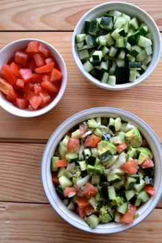 Tomato, Cucumber and Mint Salad.  So simple and delicious!  Add avocado to make it extra good :)  | thefreshfind.com