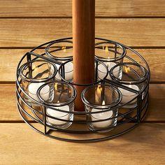 Umbrella Tea Light Centerpiece   Crate And Barrel