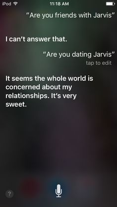 I asked Siri if she knew JARVIS.