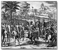 This was Francisco Pizarro with his army.