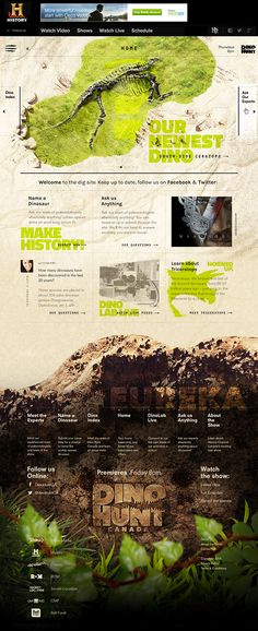 Dino Hunt Canada - History Channel on Behance