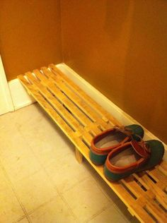DIY shoe rack / shelf - stack a few... Stain however you want ---need this for foyer, but shorter version