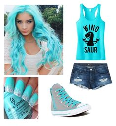 """Electric blue"" by shoshie13 ❤ liked on Polyvore featuring 3x1 and Converse"