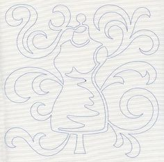 Dress Form Quilting Square (Single Run) design (E8483) from www.Emblibrary.com