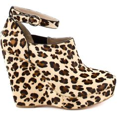 Pour La Victoire Women's Fairfax - Cheetah Blk Pony ($90) ❤ liked on Polyvore featuring shoes, boots, ankle booties, heels, wedges, platform ankle boots, wedge ankle boots, leopard ankle boots, leopard wedge booties e wedge bootie