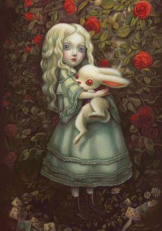 Preview de Preview Alice au pays des merveilles illustrée par Benjamin Lacombe