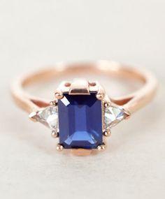 Blue Sapphire Bea Ring