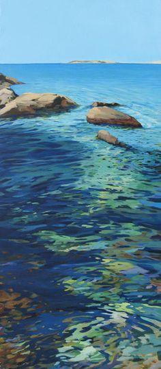 "Karen Kruse; Acrylic 2012 Painting ""La piel del agua"""