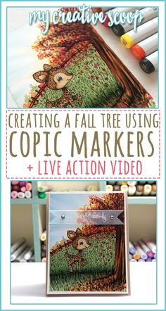 Creating Fall Trees using Copic Markers - Fast Action Video