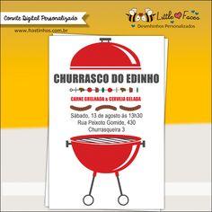 Convite Festa Churrasco para imprimir