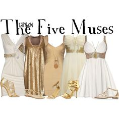 The Five Muses...This would be pretty cool for Halloween or a Disney party if I could find four friends willing to do it...
