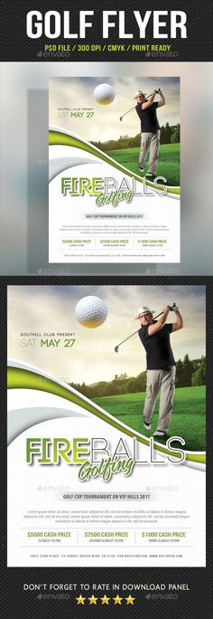 Golf Flyer Template 07 by rapidgraf Pack included:  Flyer Template PSD file Print size: 216154 mm  68.5 inches Trim size: 210148 mm  5.88.3 inches Print Rea