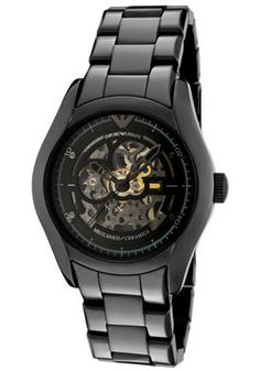 Armani Skeleton watch I got Ry for his anniversary/engagement gift! <3
