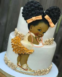 "11k Likes, 148 Comments - #No.1 Nigerian Cake Blog (@cakebakeoffng) on Instagram: ""% Edible & Super Adorable CUTE ✨...... Afro #Babygirl Cake via @kelly_kaxe …"""