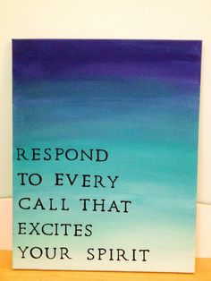 Hand Painted Ombre Canvas with Quote on Etsy, $25.00