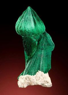 """""""Onion dome"""" Malachite with chatoyancy from Kerouchen, Morocco."""