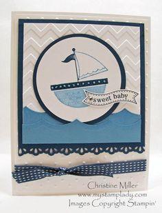 moving forward handmade baby card