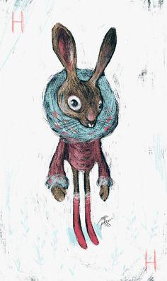 ALICE IN WONDERLAND - Sara Porras #hare #alice #wonderland #design #illustration #project #sara #porras