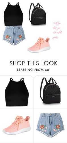 """""""magic mountain outfit"""" by selened on Polyvore featuring Boohoo, adidas and House of Holland"""