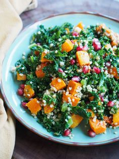 Roasted Butternut Squash and Kate Autumn Salad
