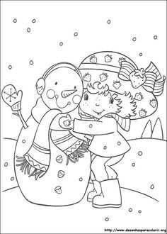 Jordbær Marie krammer snemand