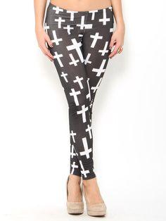 #Cross Print #Leggings