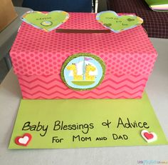 A baby shower game idea that doubles as advice and well wishes for the new parents. This easy to make idea will become a treasured keepsake for the new baby