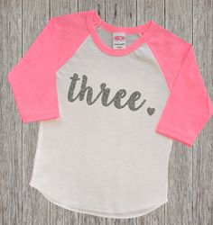 Three Year Old Birthday Shirt  Third by RusticPeachDesigns on Etsy