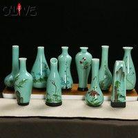 Wish | Mini Vintage Home Decoration Vases Antique Ceramic Flower Vase Pot China Hand Painted Chinese Porcelain Vase Flower Receptacle
