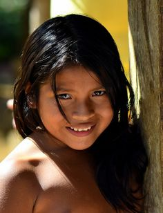Embera beautiful smiling girl