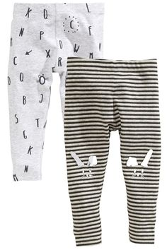 Buy Grey Rabbit Leggings Two Pack (3mths-6yrs) from the Next UK online shop