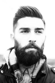 A nice trim beard and styled coif. Via the Daily Beard.