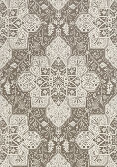 Tarragon #wallpaper and #print #fabric in #grey from the Caravan collection. #Thibaut
