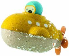 #puericultura PlanToys – Submarino, juguete de baño (5669)