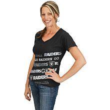 NFL Oakland Raiders Women's Bling Diva Short Sleeve T-shirt