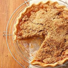 Apple pie meets apple crumble recipe in this shortcut apple dessert. Refrigerated piecrust and a warmly-spiced crumble replaces all the fussy homemade pastry.