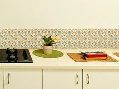 Wall decals tile stickers large design spanish Set of 24 Tiles