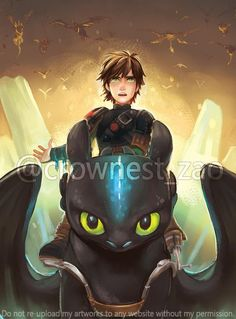 Dessins fanart Dragons, La Reine Des Neiges, Vice-Versa, etc ... < Hiccup and Toothless. :)
