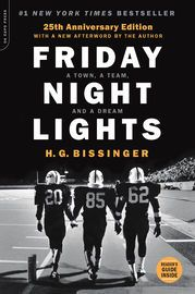 Friday Night Lights, 25th Anniversary Edition | http://paperloveanddreams.com/book/991603128/friday-night-lights-25th-anniversary-edition | With a new afterword by the authorReturn once again to the timeless account of the Permian Panthers of Odessa--the winningest high-school football team in Texas history. Odessa is not known to be a town big on dreams, but the Panthers help keep the hopes and dreams of this small, dusty town going. Socially and racially divided, its fragile economy…