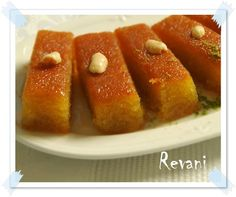 Revani (samolina cake soaked in light syrup)