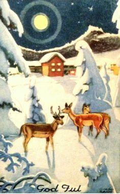 Julekort Otto Mølbach utg Damm
