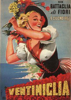 Filippo Romoli, ca 1957, Battaglia di fiori, Ventimiglia. (I)