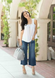 The HONEYBEE: Cropped Denim