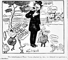 Political Cartoon about Upton Sinclair's The Jungle which