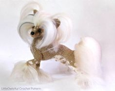 105 Crochet Pattern Chinese Crested dog - PDF file Amigurumi by Chirkova Etsy por LittleOwlsHut